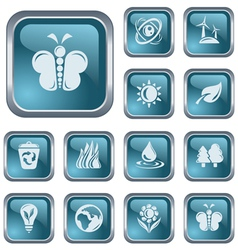 Environment buttons vector image