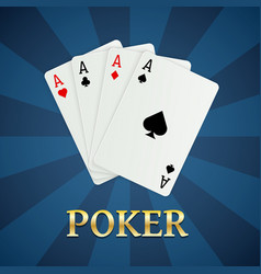 poker cards gambling concept casino mobile apps vector image