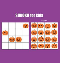 Sudoku game for children kids activity sheet vector