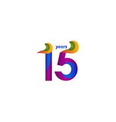 15 years anniversary celebration elegant blue vector