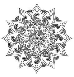 3d mandala design outline happy diwali rangoli vector