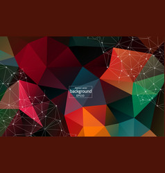 Abstract polygonal space low poly dark background vector
