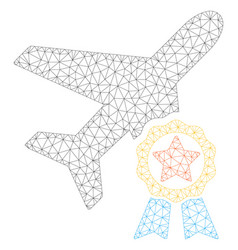 Airplane certification polygonal frame mesh vector