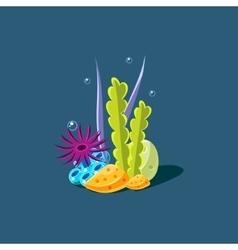Algae and coral vector