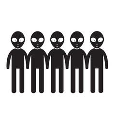 alien icon design vector image