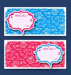Amorous horizontal banners vector