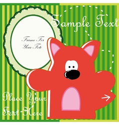 Baby postcard with fox vector image vector image