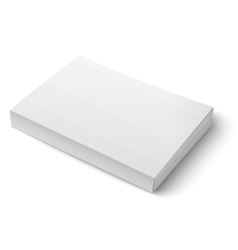 Blank softcover book template on white vector image
