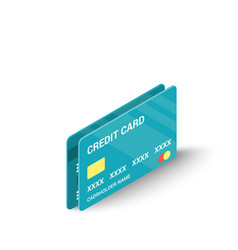 blue credit cards icon isometric 3d style vector image