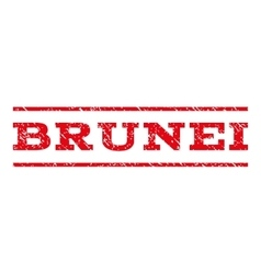 Brunei Watermark Stamp vector image
