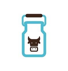 Can container for milk icon Garden vector