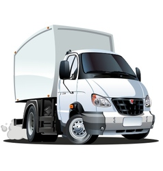 cartoon delivery truck vector image