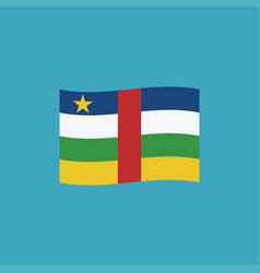 central african republic flag icon in flat design vector image