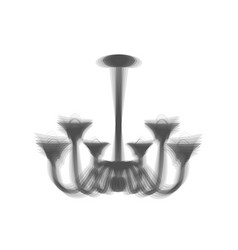 Chandelier simple sign gray icon shaked vector