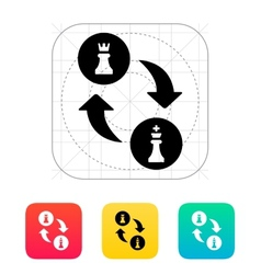 Chess castling icon vector