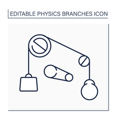 Classical physics line icon vector
