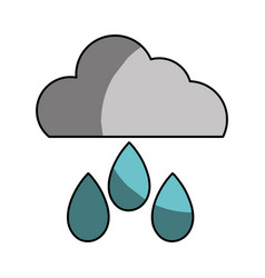 Cloud with rain and natural weather vector