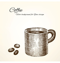 coffee background for Your design vector image