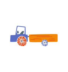 cute truck delivery cargo lorry side view vector image