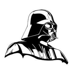 Darth vader star wars stencil vector