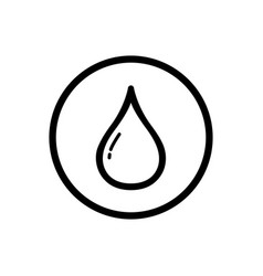 Drop line icon on a white background vector