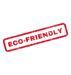 Eco-Friendly Text Rubber Stamp vector image