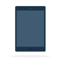 electronic black tablet flat isolated vector image