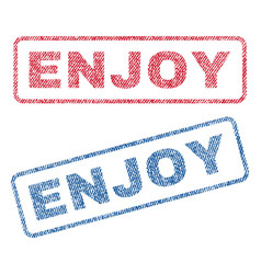Enjoy textile stamps vector