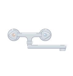 faucet for bathroom cartoon style vector image