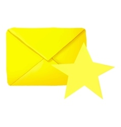 Favorites letter icon cartoon style vector