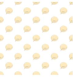 Glossy speech bubble pattern vector