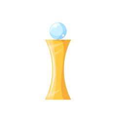 gold award with brilliant glass ball on top poster vector image