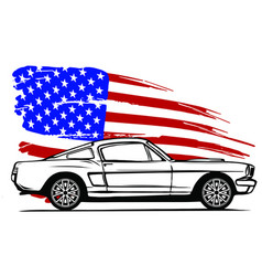 Graphic design an american vector