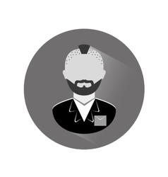 Grayscale arrested man icon image vector
