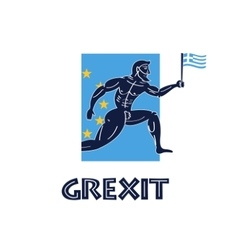 Greece crisis greek runner vector