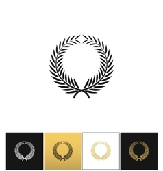 Greek prize wreath with laurel leaves icon vector