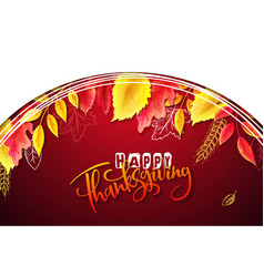 Greeting thanksgiving banner with hand vector