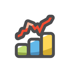 growth chart financial statistic icon vector image