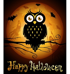 halloween owl silhouette vector image vector image