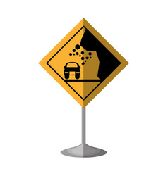 high risk of collapse vector image