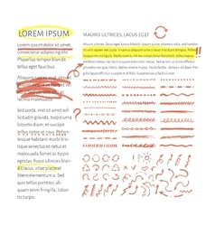 Highlighter elements with text layout vector
