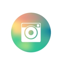 Hipster photo camera icon vector image