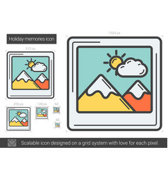 Holiday memories line icon vector