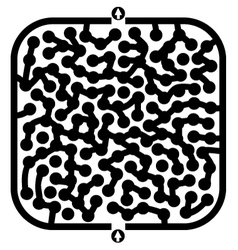 Imaginative maze vector