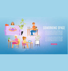 inscription coworking space colorful background vector image