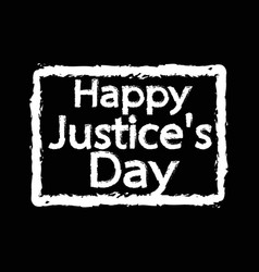 justice day design vector image