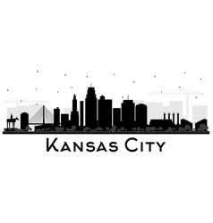 Kansas city missouri skyline silhouette vector