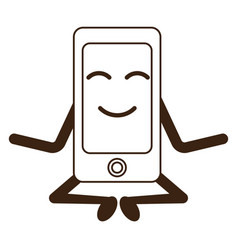 Kawaii smartphone device vector