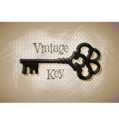 key vintage sketch vector image