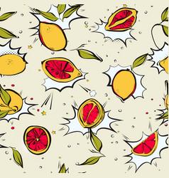 lemon fresh poppet pattern modern juicy citrus vector image